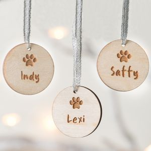 Personalised Pet Wooden Christmas Decoration