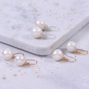 Huge Pearl Earrings