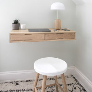 Floating Oak Desk - office & study
