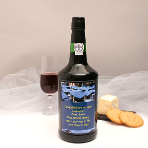 Personalised Port Gift With Graduation Label - wines, beers & spirits