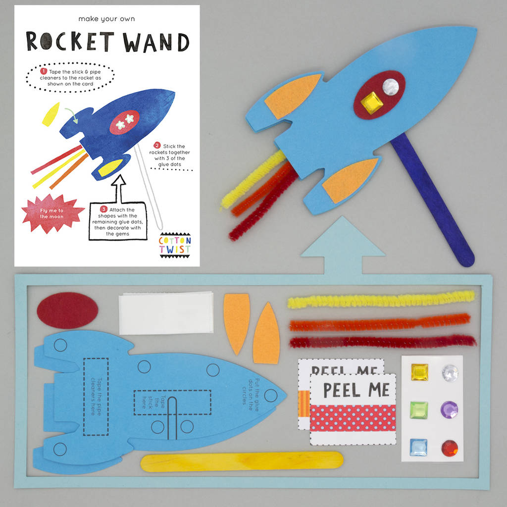 Make your own rocket wand kit by cotton twist for Wand making kit