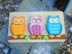 Personalised Children's Wooden Owl Puzzle