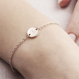 Personalised Initial Disc Bracelet - gifts for friends