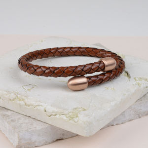 Plaited Luxury Leather Cuff