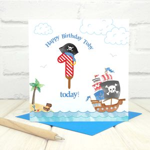 Personalised 1st Birthday Pirate Card
