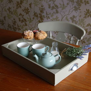 Handmade Drawer Style Wooden Tray