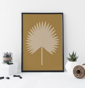 Ochre Palm Botanical Print - nature & landscape
