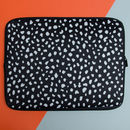 Laptop Sleeve With Dalmatian Print, More Colours