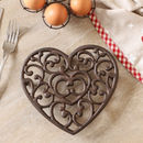 Personalised Cast Iron Heart Trivet Gift