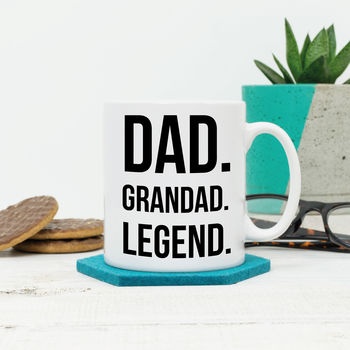 Dad. Grandad. Legend. Personalised Fathers Day Mug
