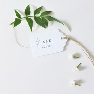Elegant Wedding Favour Tags