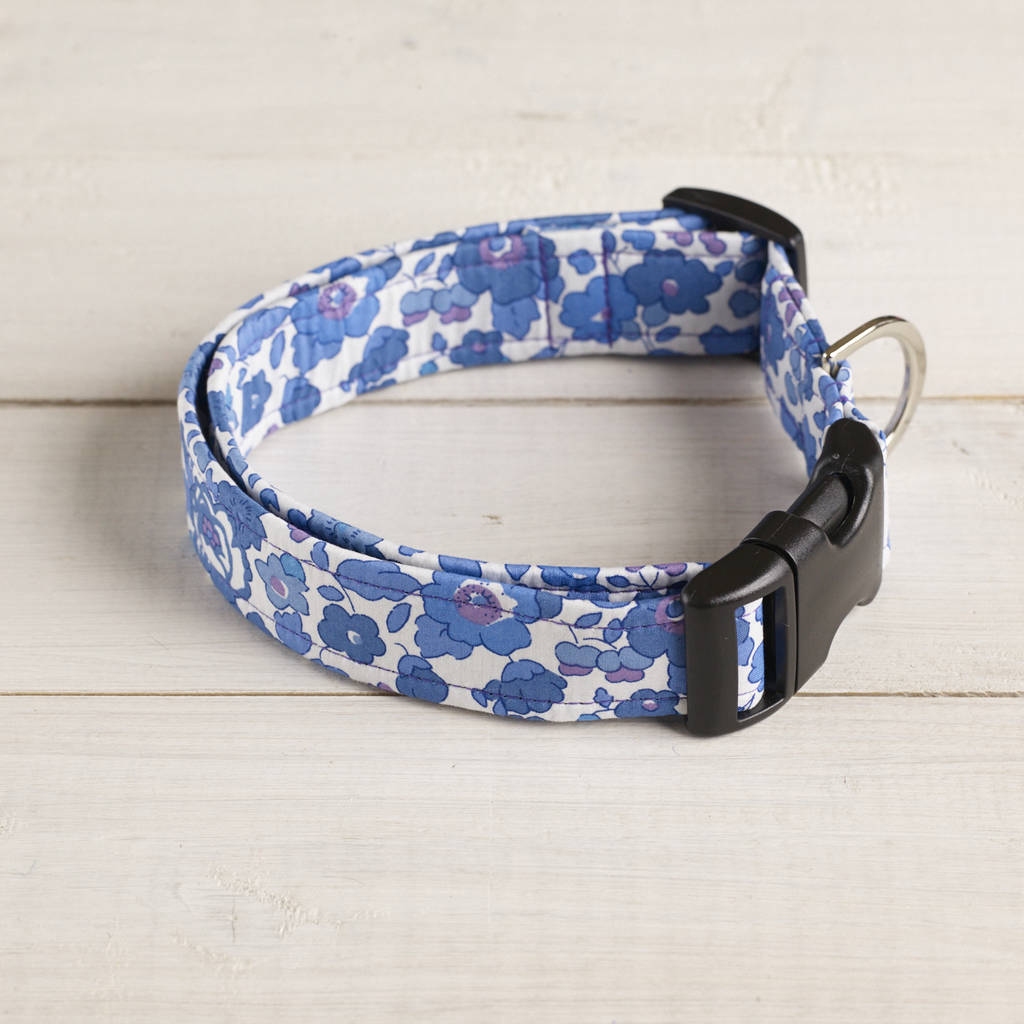 Mabel Liberty Fabric Dog Collar