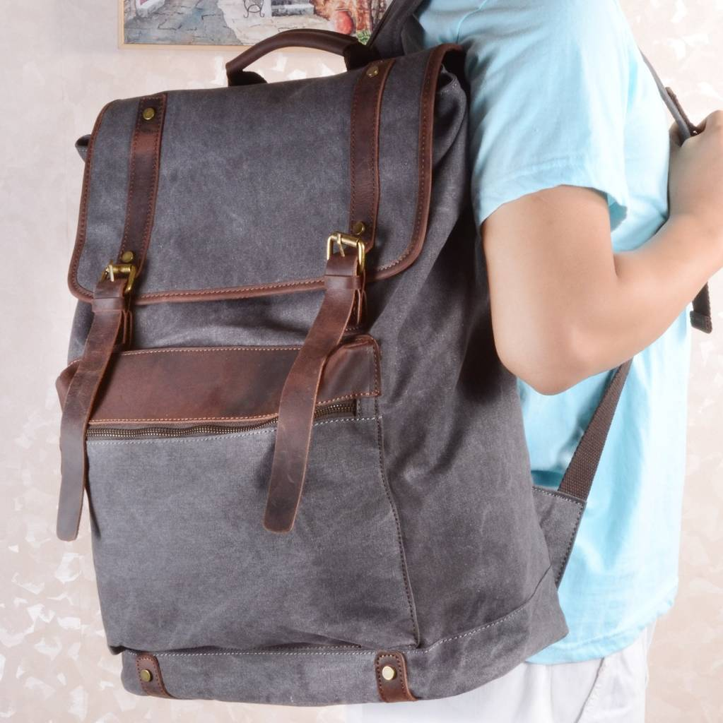 extra large canvas rucksack gift for him by eazo ... ce266eea66230