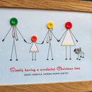 Personalised Button Family Christmas Print