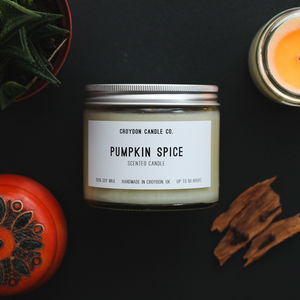 Pumpkin Spice Scented Soy Candle - candles & home fragrance
