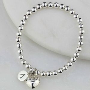 Personalised Children's Solid Silver Heart Bracelet - winter sale