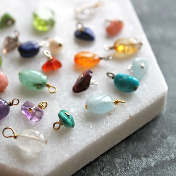 birthstone options close up