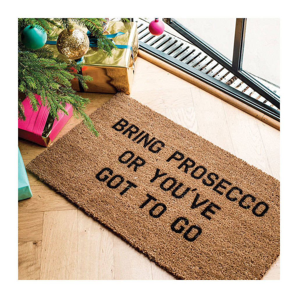 Bring Prosecco Doormat By More Than Words