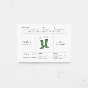 Love Fest Ticket Wedding Invitation