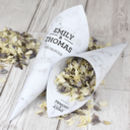 Marble Personalised Wedding Cones With Confetti