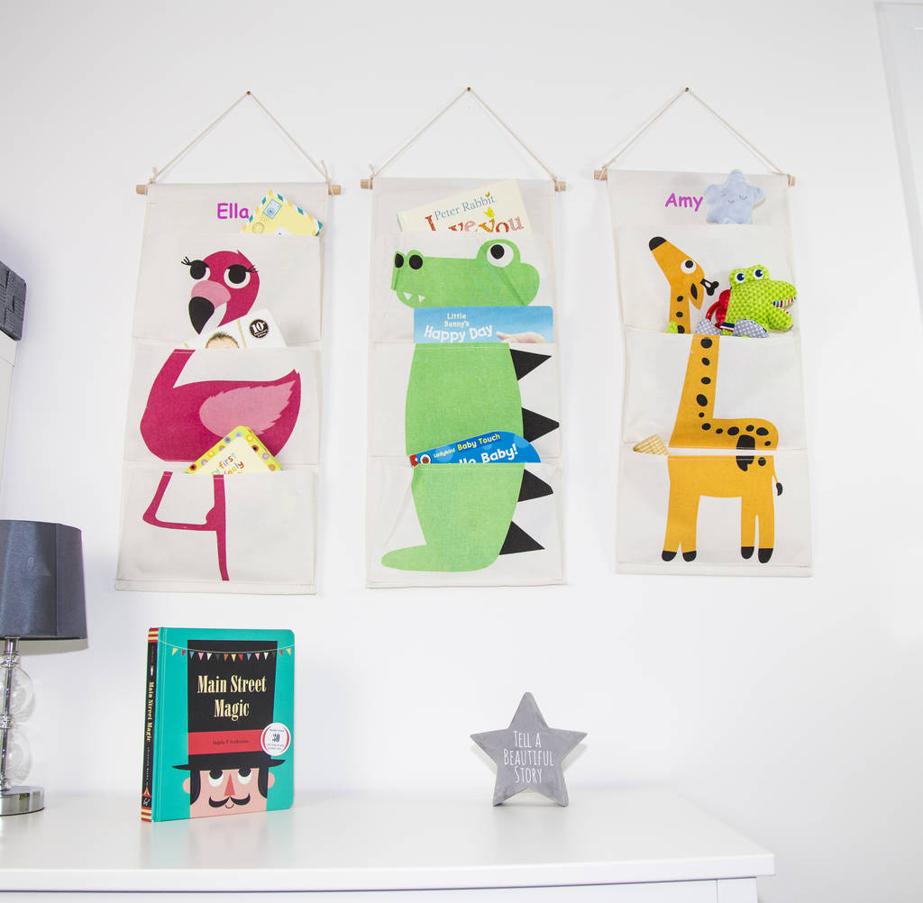 Personalised Childrenu0027s Hanging Storage  sc 1 st  Notonthehighstreet.com & personalised childrenu0027s hanging storage by duncan stewart ...