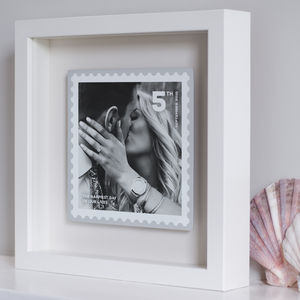 Personalised Floating Metal Postage Stamp Photo - valentine's gifts for him