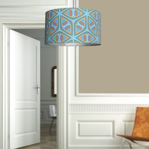 Blue Wheel A Stunning Fabric Lampshade For The Home - lamp bases & shades