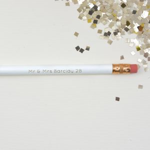 Personalised Mr And Mrs To Be Pencil