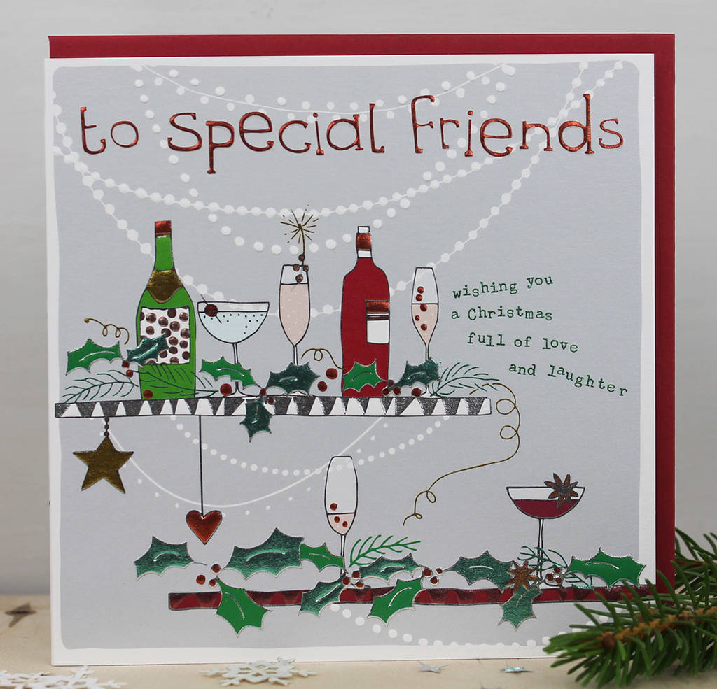 a christmas card for special friends