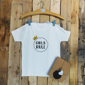 Girls Rule / Boys Rule Baby /Child Crown T Shirt