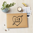 Personalised Love Heart Wedding Guest Book