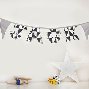 Personalised Monochrome Bunting