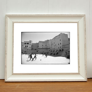 Football, Medina, Fes, Morocco Art Print - activities & sports