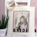 'Bride' Floral Bride Bag Choose Your Flower