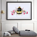 Bumble Bee Botanical Art Print