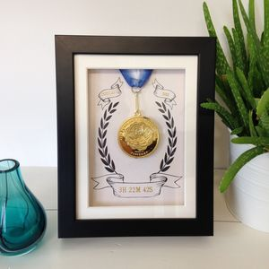 Personalised Marathon Medal Presentation Display Frame