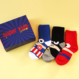 Super Kids Superheroes Children's Socks Box Set - best gifts for boys