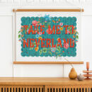 Take Me To Neverland Floral Typography Print