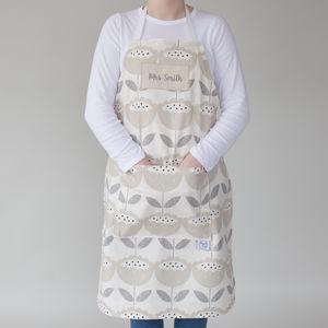 Personalised Poppy Head Apron
