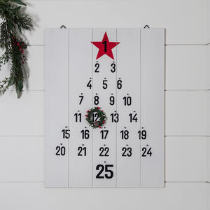Albany Wooden Advent Wall Calendar Christmas