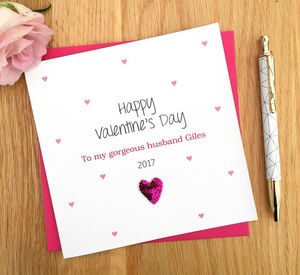 Personalised Valentine's Card Husband Wife - cards & wrap