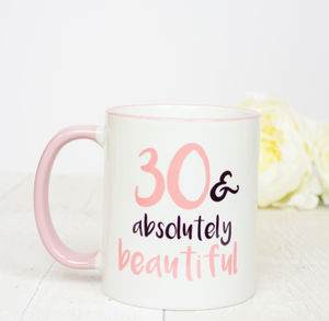30th Birthday Gift Mug - dining room