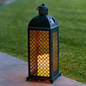 Agadir Solar Candle Lantern - lights & lanterns