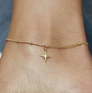 Star Anklet For Hope In Silver, Gold Or Rose Gold