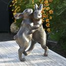 Dancing Rabbits Garden Sculpture