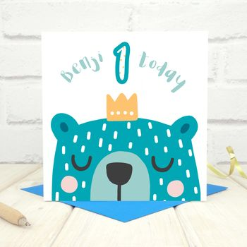 Personalised 'Party Animal' 1st Birthday Card