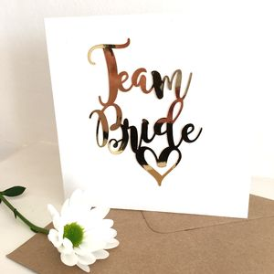 Luxe Gold Team Bride Card - be my maid of honour