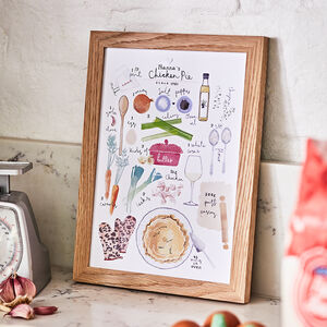 Personalised Family Recipe Illustrated Print, Unframed