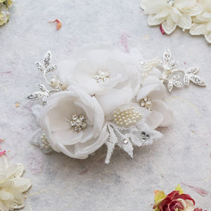 Isadora Floral Hair Piece - wedding jewellery