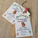 Woodland Pregnancy And Baby Announcement Postcard